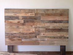 reclaimed recycled pallet wood headboard head board by KaseCustom