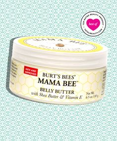 "Burt's Bee - This ""thick,"" ""luscious"" cream is not just great for preventing pregnancy-related stretch marks, it's also great for moisturizing skin from head to toe. Readers say this fades stretch marks and unsightly sc Burt's Bees Mama Bee Belly Butter, Best Stretch Mark Creams, Stretch Marks On Thighs, Prevent Stretch Marks, Nose Pores, Cellulite Remedies, Best Moisturizer, Burts Bees, Acne Scars"