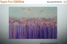 On Sale Flowers PaintingFloral LandscapeOriginal by Itisfine