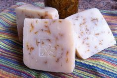 Marigold Soap -this is a cold process recipe link, but I'd try melt and pour just with marigold to see what I could get. Basically after melting, add Litsea Cubea, Lavender and Lime, plus a tbsp or two of dried marigold flowers and 1 tbsp rice starch per 1/2 lb soap.