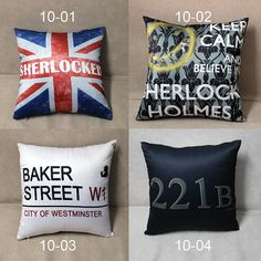 Sherlock Holmes double sided cushion/Make your own by PentagonWork, $29.99