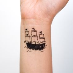 ship tattoo for my boy!