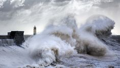 Photographer Spends Years Documenting Immense Storm Waves that Crash Against the Porthcawl Lighthouse