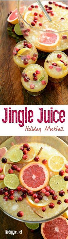 jingle juice holiday mocktail   http://NoBiggie.net #mixedwithTrop #ad