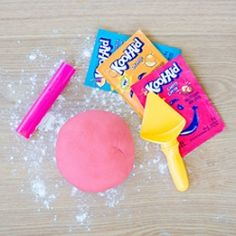 Make your own edible homemade play dough with Kool Aid. This recipe takes 10 minutes to make including clean up!