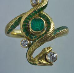 PAUL BRIANCON Art Nouveau Snake Ring 10