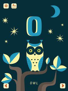 'O - Owl' from Mini-U: ZOO Alphabet by PopAppFactory