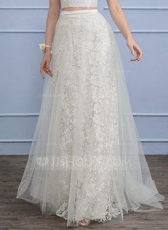 [US$ 149.99] Separates Sweep Train Tulle Lace Wedding Dress (002110498)