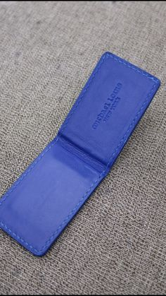 Money Clip style in Blue Croc with tonal calfskin lining, stitching, and inked edges.   See More --> https://michaellouis.com/collections/leather-money-clips/products/money-clip-blue-croc  Money Clip   #MichaelLouis - www.MichaelLouis.com