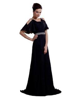 Remedios Boutique Chiffon A Line Formal Evening Gown with Rhinestone Waistline, Black, S2 Remedios Boutique,http://www.amazon.com/dp/B00AQEG9KA/ref=cm_sw_r_pi_dp_dXIesb1SJQBZ5T0S