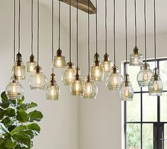 Paxton Glass 16-Light Pendant #potterybarn