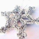 -50 giorni a Natale: schema fiocco di neve a crochet