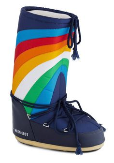 Stride through any weather in singular style when you wear these colorful kicks by Moon Boot the Original!!