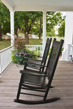 Nice touch with grass in the corner. I wanna have a glass of sweet tea on this porch!!!