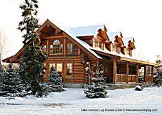 Custom Red Cedar Log Cabin Home