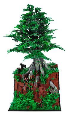 Fantastic!! An epic LEGO recreation of the Ringwraiths' hunt for Hobbits