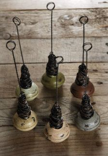 repurposed antique doorknobs: for signage/ earring cards...