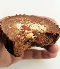 """Today it's very hard to find snack with a high percentage of good fat that give you an energy boost. Look no further; these Chocolate Almond """"Fat Bombs"""" are packed with coconut oil, grass-fed butter, almonds and berries."""