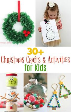 So many fun Christmas kid crafts and activities for to keep your kids busy all holiday season! Kid crafts for children of all ages!