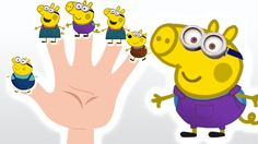 Peppa Pig Minions Finger Family - Nursery Rhymes and More Lyrics