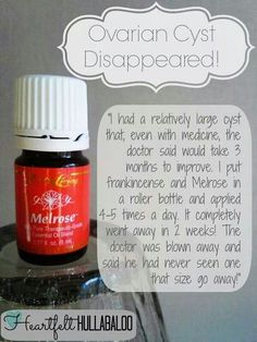 Ovarian Cyst youngliving.org/jennies fb.com/essentiallyequippedliving