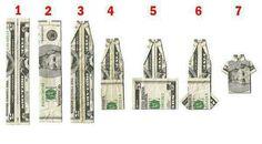 Geld biljet vouwen tot shirtje