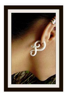 Fake gauge earrings , Small twist , Bone Split Gauge Earrings, hand carved,tribal style,organic on Etsy, $14.99