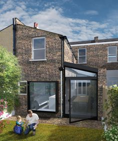 Private residence extension and side return on Relf Road, London - New Ideas House Extension Design, Glass Extension, Rear Extension, Extension Ideas, Kitchen Extension Side Return, Kitchen Diner Extension, Victorian Terrace House, Victorian Homes, Victorian Townhouse