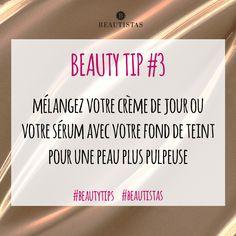Mélangez votre crème de jour ou votre sérum avec votre fond de teint pour une peau plus pulpeuse #beautytips #astuces #beauté #maquillage #beautistas
