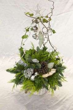 kerst workshops - kerstboom in witte mand - christa snoek