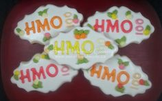 Custom decorated sugar cookies created in Bradford Ontario in a health board approved kitchen. Bradford Ontario, Logo Cookies, Decorated Cookies, Cookie Decorating, Sugar Cookies, Sweet, Handmade, Beautiful, Food