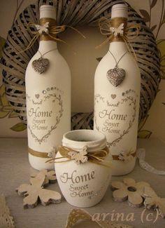 Cadeau Creatief met flessen (hearts)