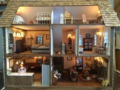 My Miniature Menagerie: Countryside Cottage (jt-go to blog for more pics of this lovely cottage)