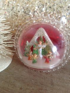 #Vintage #Diorama Brite #Christmas #Ornament sold at #BirchTreeLane on etsy. LOTS OF BEAUTIFUL VINTAGE CHRISTMAS AT THIS ETSY STORE!