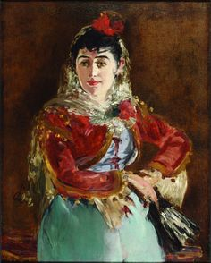 "Édouard Manet, ""Portrait of Emilie Ambre as Carmen"" 1880."