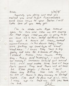 amazing letter from dr. dre to his then-girlfriend (now wife)
