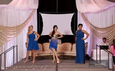 Bridesmaids dresses at our show by Angelique Bridal by Gina