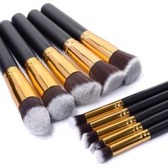 Make Up Brushes Tool 10 PCS Makeup Brushes Set Classic Matte Black Makeup Brush Set Beauty Makeup Tools & Accessories Maquiagem