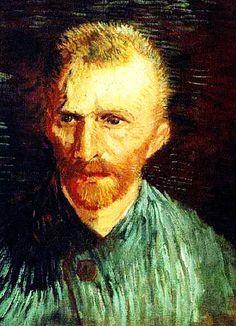 """Self-Portrait""....Vincent van Gogh Painting, Oil on Canvas Paris: Summer, 1887.....Van Gogh Museum Amsterdam, The Netherlands, Europe."