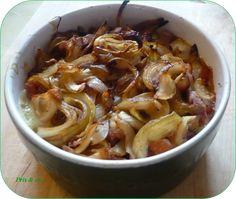 Camenbert au four, miel, lardons et oignons