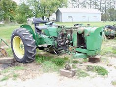 John Deere 1020 tractor salvaged for used parts. This unit is available at All States Ag Parts in Black Creek, WI. Call 877-530-2010 parts. Unit ID#: EQ-24996. The photo depicts the equipment in the condition it arrived at our salvage yard. Parts shown may or may not still be available. http://www.TractorPartsASAP.com