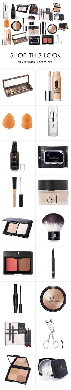 """""""Morning Routine"""" by tealzebra36 ❤ liked on Polyvore featuring Urban Decay, Clinique, Wet n Wild, e.l.f. and Forever 21"""