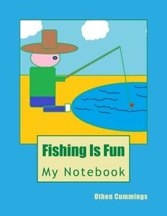 Fishing Is Fun: Cute Fishing Design Notebook/Journal with Indie Books, Fish Design, Lined Page, Journal Notebook, Letters, Cute, Fishing, Amazon, Caro Diario