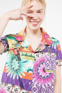 Homewear Desigual Shirt Stripes Botanical