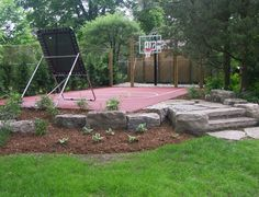 backyard remodel Games & Sports Courts by Rubaroc Rubber Safety Surfacing outdoor products Backyard Sports, Backyard Basketball, Backyard Play, Backyard Retreat, Outdoor Basketball Court, Backyard Paradise, Outdoor Landscaping, Outdoor Fun, Sport Outdoor