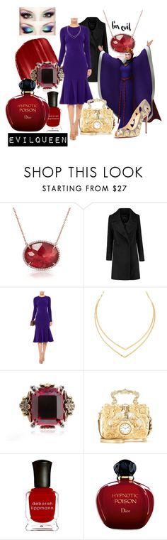 """Evil queen"" by medyas ❤ liked on Polyvore featuring Anne Sisteron, Urban Decay, Cushnie Et Ochs, Lana, Alexander McQueen, Dolce&Gabbana, Deborah Lippmann, Christian Dior and Christian Louboutin"