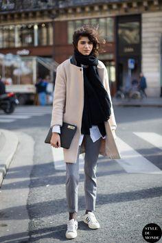 Mica Arganaraz Street Style Street Fashion Streetsnaps by STYLEDUMONDE Street Style Fashion Blog http://www.styledumonde.com/2014/12/paris-fashion-week-fw-2014-street-style-mica-arganaraz-2/
