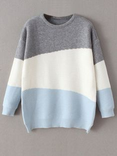 $31.99 Oversized Comfy Sweater - BLUE ONE SIZE #comfystyle