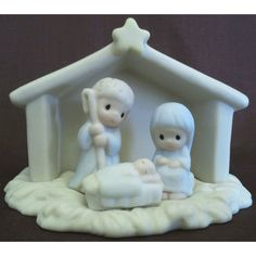 Enesco's Precious Moments Sugar Town Village - Nativity Figurine - Signed 1992 G-Clef 529508 NIB || Available for sale via the pin's link. To see our complete collection of Precious Moments available, check out our store under the Collectibles > Enesco > Precious Moments category at http://purpleiris.ecrater.com/c/1760136/precious-moments