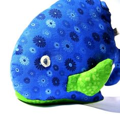 Plush Stuffed Animal, WHALE: Handmade Scented Toy with Aromatherapy benefits. Peaceful and Calming